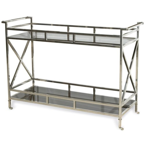 Vanguard Furniture Accent and Entertainment Chests and Tables Victor Buffet with 2 Black Glass Shelves