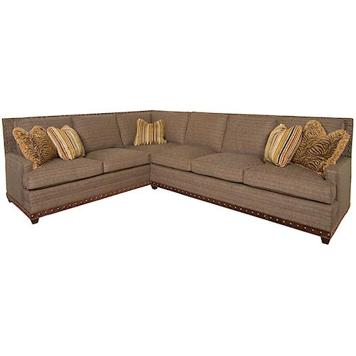 Vanguard Furniture America Bungalow Riverside Sectional Sofa
