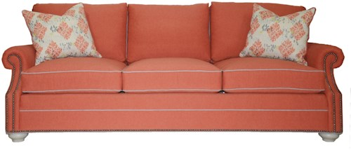 Vanguard Furniture American Bungalow Gutherly Sofa with Flare Tapered Arms