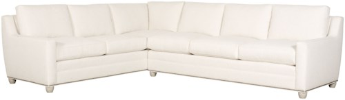 Vanguard Furniture American Bungalow Fairgrove Sectional with Sloped Track Arms