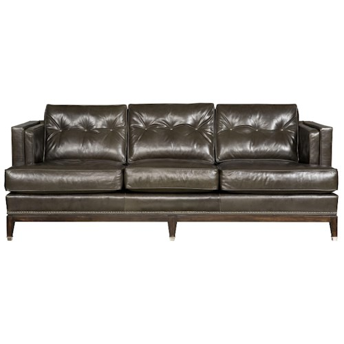 Vanguard Furniture Whitaker Sofa with Track Arms and Tufted Back