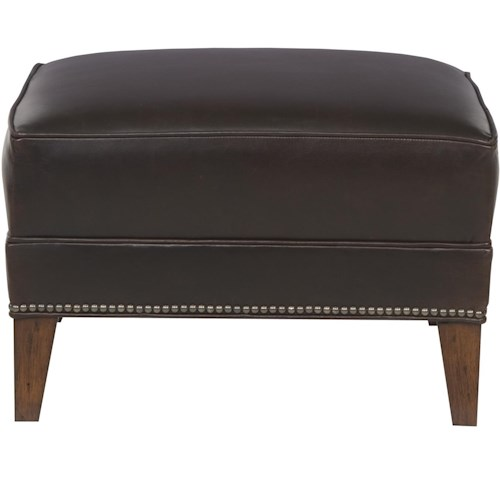 Vanguard Furniture Ginger Traditional Ottoman with Tapered Feet
