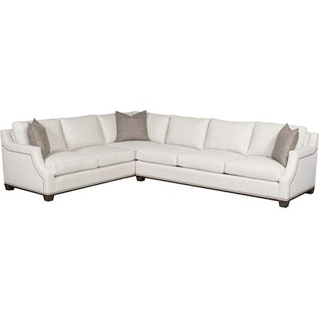 2 Pc Customizable Sectional Sofa