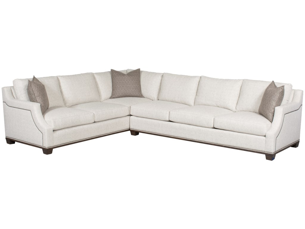 Vanguard Furniture Michael Weiss Abingdon2 Pc Customizable Sectional Sofa
