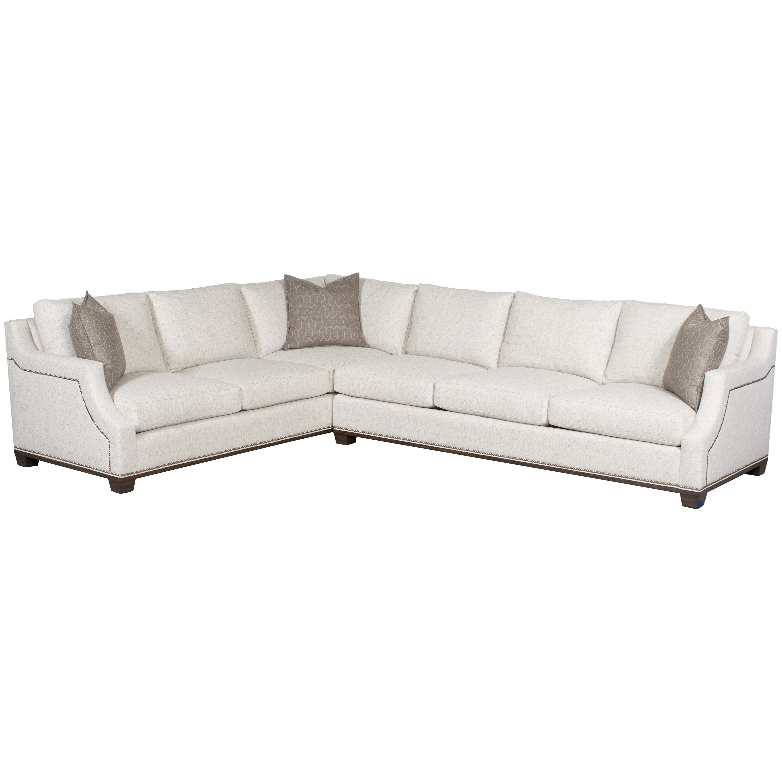 Vanguard Furniture Michael Weiss   Abingdon2 Pc Customizable Sectional Sofa  ...