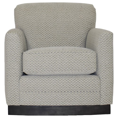 Vanguard Furniture Michael Weiss Paris Swivel Chair with Track Arms
