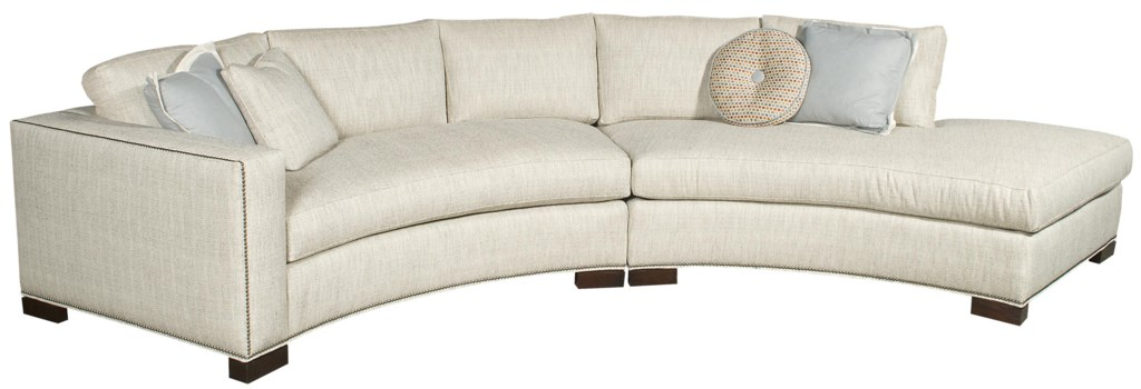 Vanguard Furniture Michael Weiss Curved One Arm Bennett Sectional  ~ One Arm Sofa With Chaise