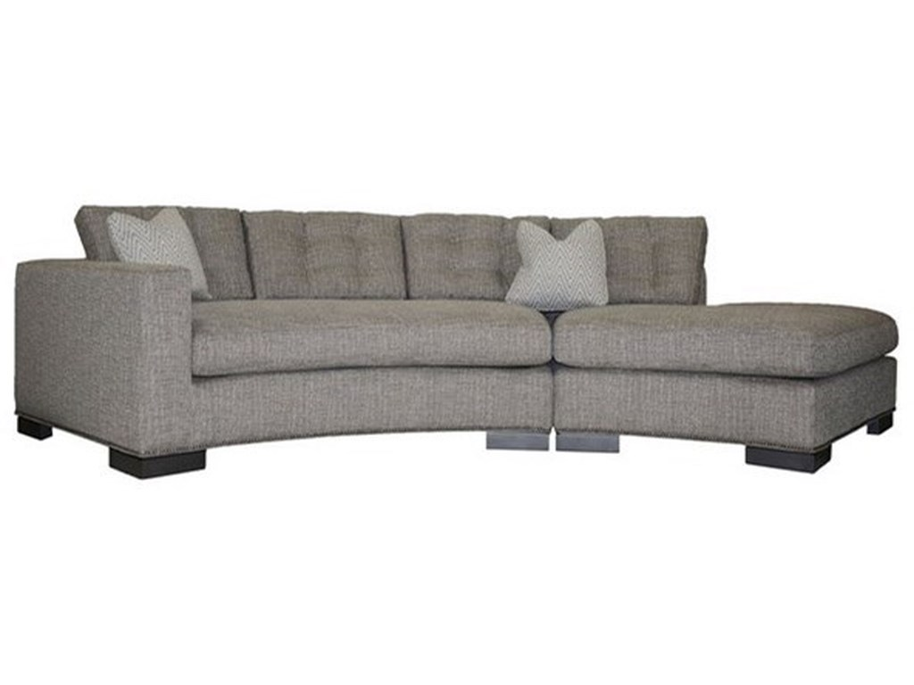 Vanguard Furniture Michael WeissTransitional Loveseat with Chaise