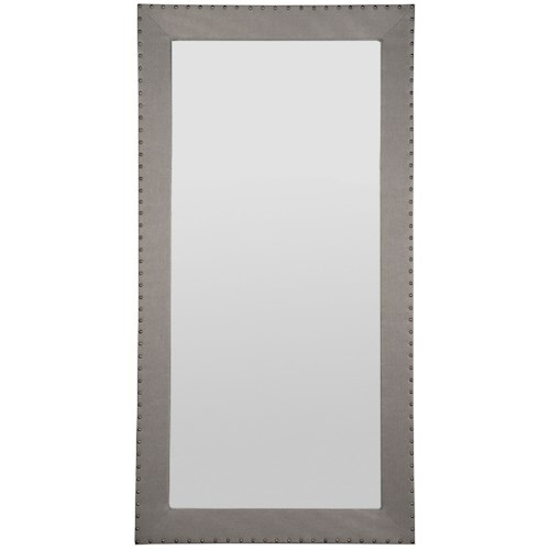 Vanguard Furniture Thom Filicia Home Collection Corinthian Club Upholstered Floor Mirror