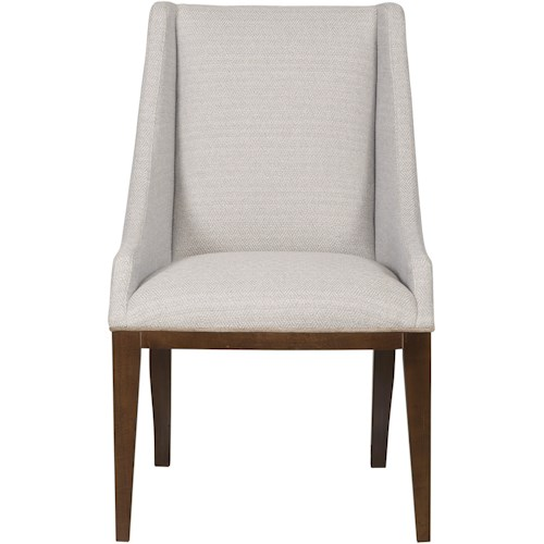 Vanguard Furniture Thom Filicia Home Collection Upholstered Ithaca Dining Arm Chair with Wood Legs
