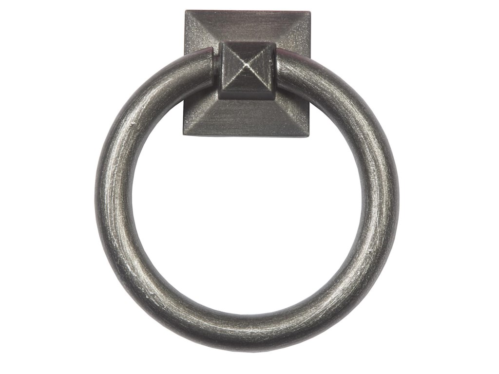 Standard Option Blackened Silver Ring Pull on Back