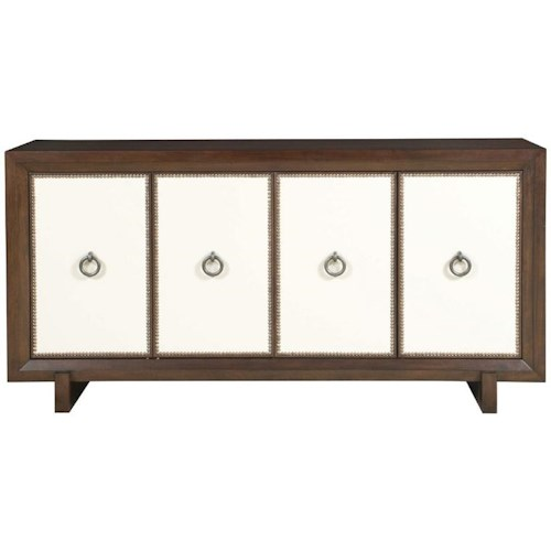 Vanguard Furniture Thom Filicia Home Collection Durston Road Contemporary Sideboard with Fabric Panels