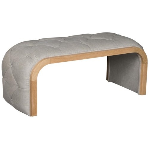 Vanguard Furniture Thom Filicia Home Collection Bish Bash Transitional Tufted Upholstered Bench