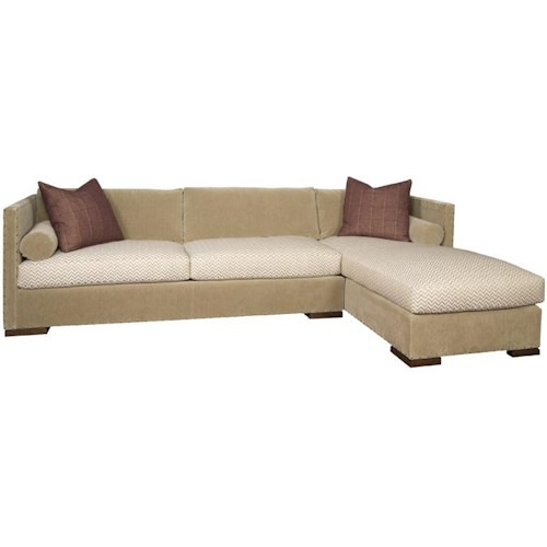 Vanguard Furniture Thom Filicia Home Collection Contemporary Oakwood Sectional with Chaise