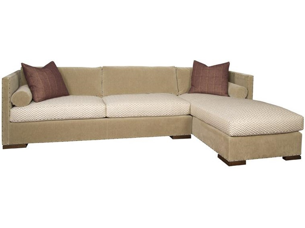 Vanguard Furniture Thom Filicia Home CollectionSectional Sofa with Chaise