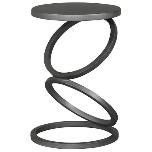 Vanguard Furniture Thom Filicia Home Collection Contemporary Spot Table with Circle Motif Base
