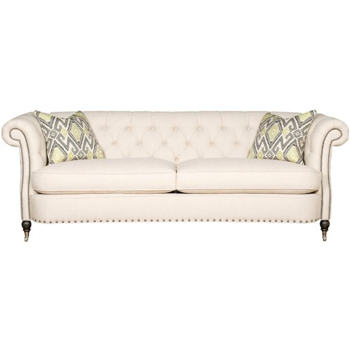 Vanguard Furniture Upholstery Vanguard Brit Sofa with Tufted Back