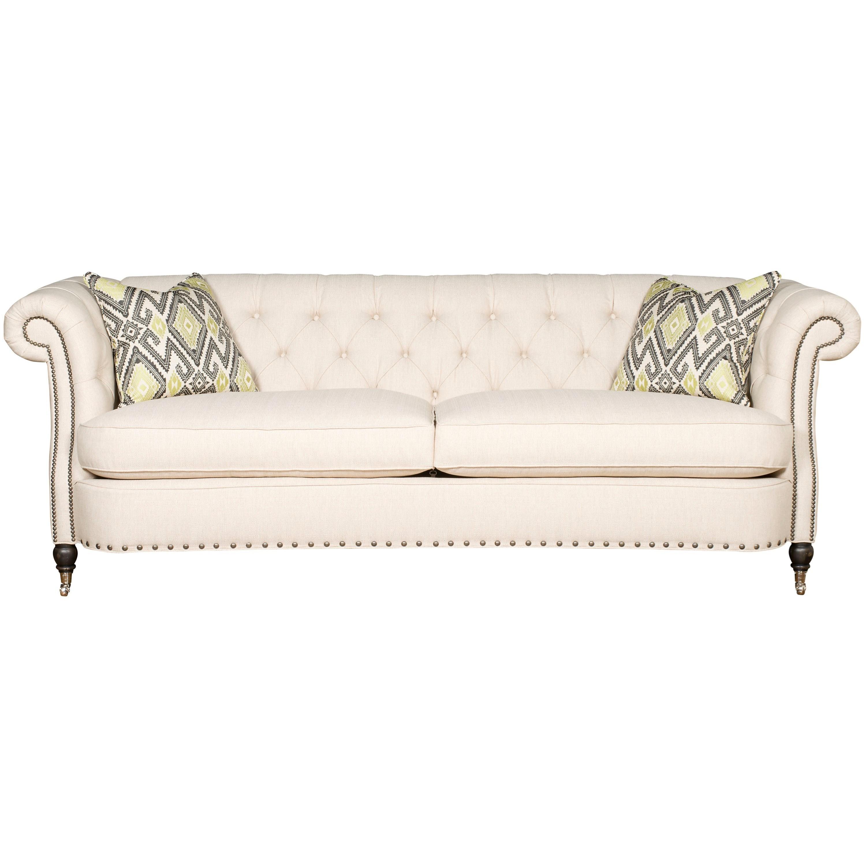 Vanguard Furniture Upholstery Vanguard Brit Sofa With Tufted Back    Hudsonu0027s Furniture   Sofa
