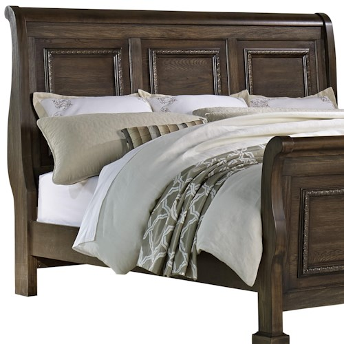 Vaughan Bassett Affinity King Sleigh Headboard with Egg-and-Dart Molding