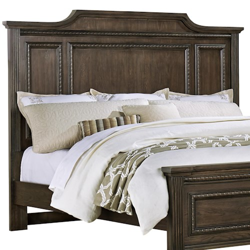 Vaughan Bassett Affinity King Mansion Headboard with Egg-and-Dart Molding