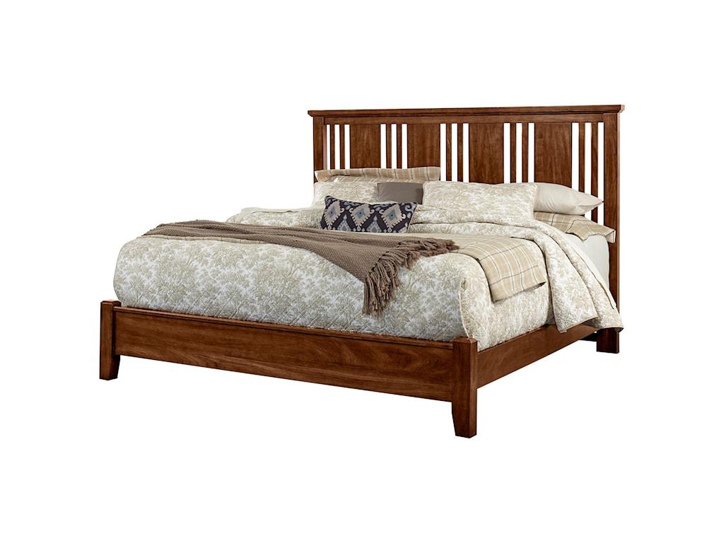 Vaughan Bassett American CherryKing Craftsman Bed