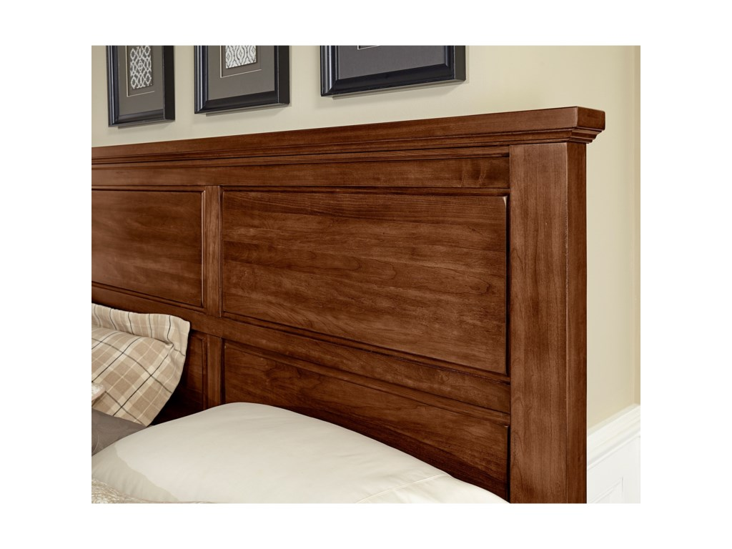 Vaughan Bassett American CherryKing Mansion Bed with Bench Footboard