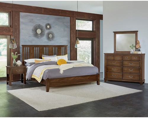 Vaughan Bassett American Cherry King Bedroom Group