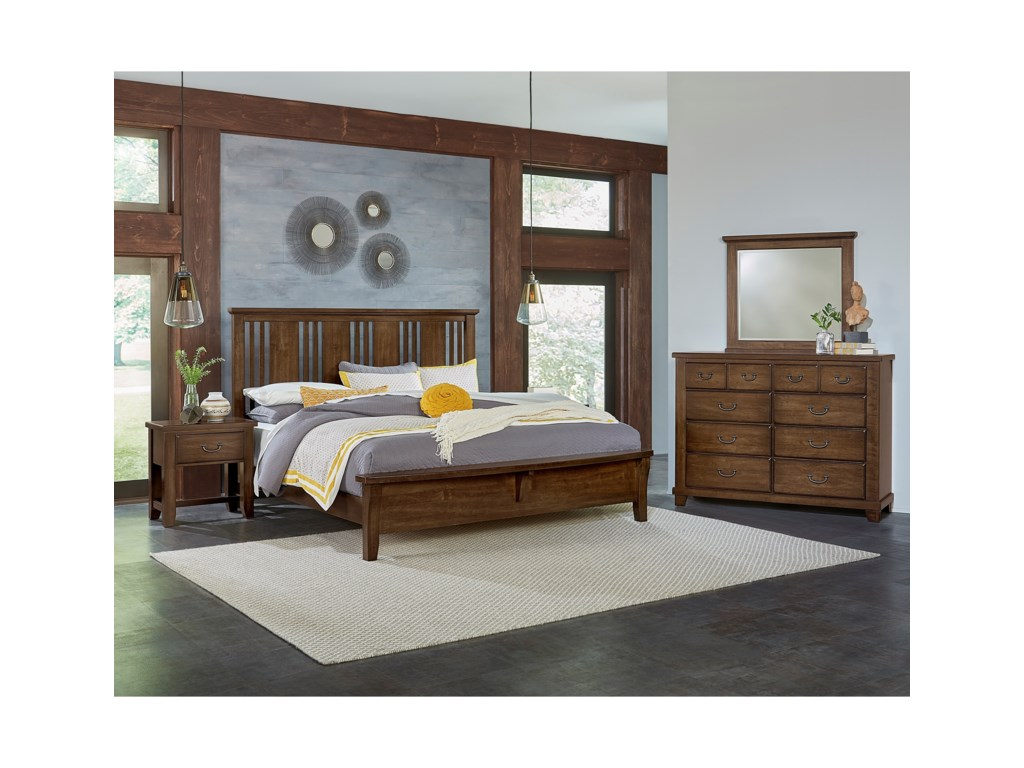 Vaughan Bassett American CherryQueen Bedroom Group
