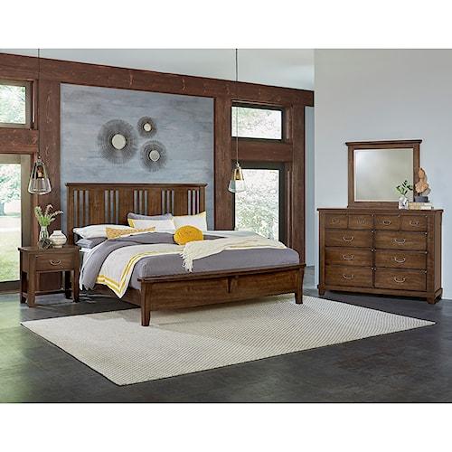 Vaughan Bassett American Cherry King Bedroom Group