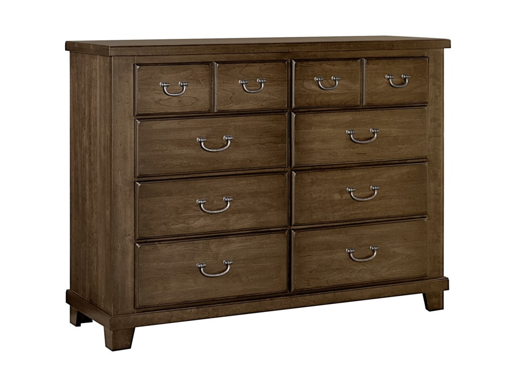best loved 50dc4 3ea47 American Cherry Solid Wood Cherry Bureau - 8 Drawers by Vaughan Bassett at  Lindy's Furniture Company