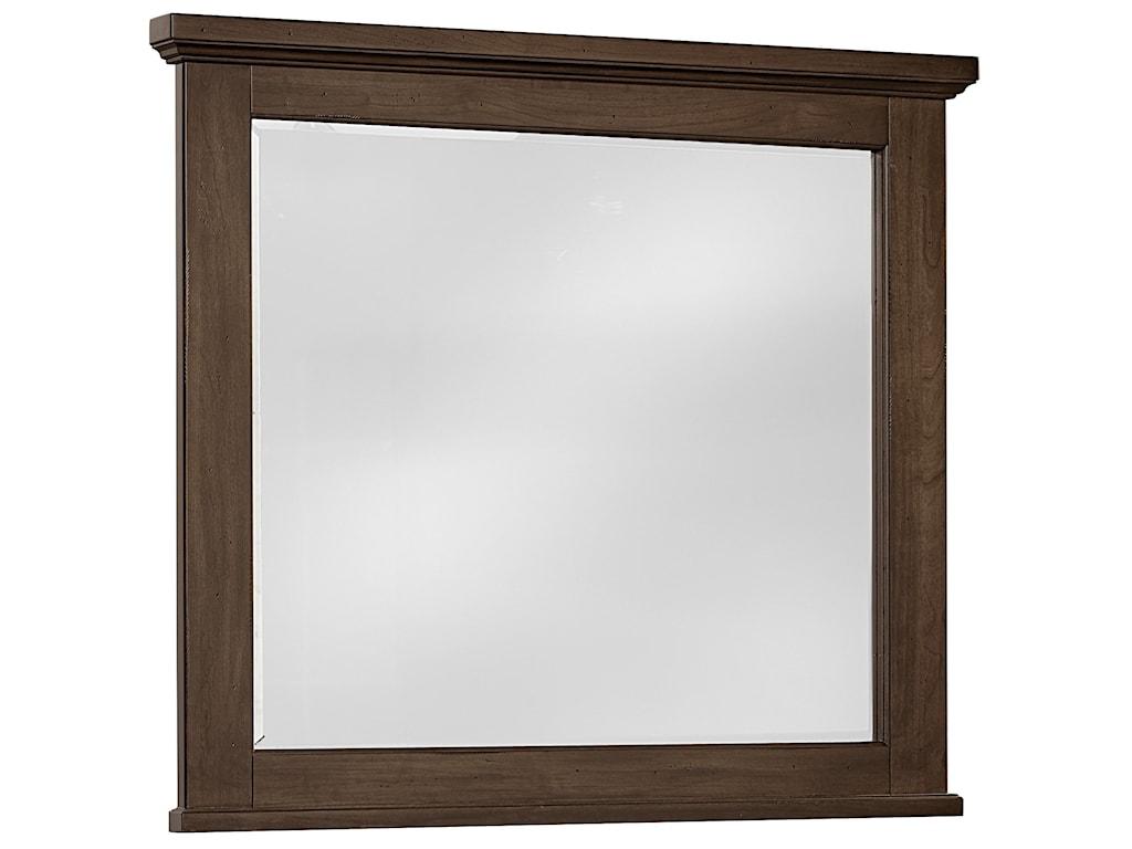Vaughan Bassett American CherryLandscape Mirror - Beveled Glass