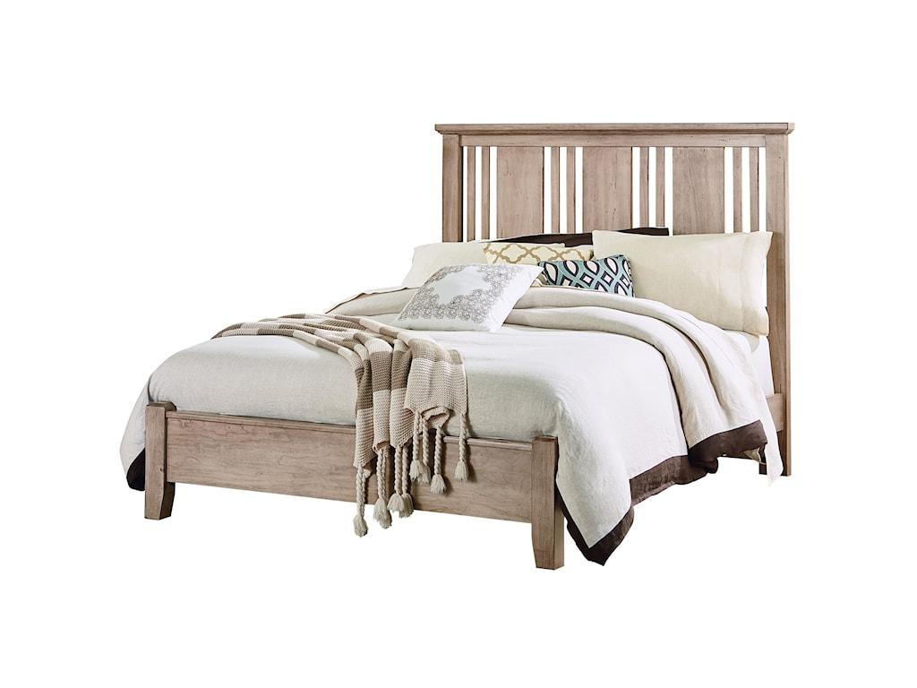 Vaughan Bassett American CherryQueen Craftsman Bed