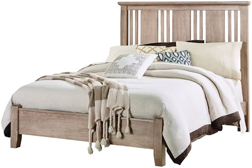 Vaughan Bassett American Cherry Solid Wood Cherry Queen Craftsman Bed