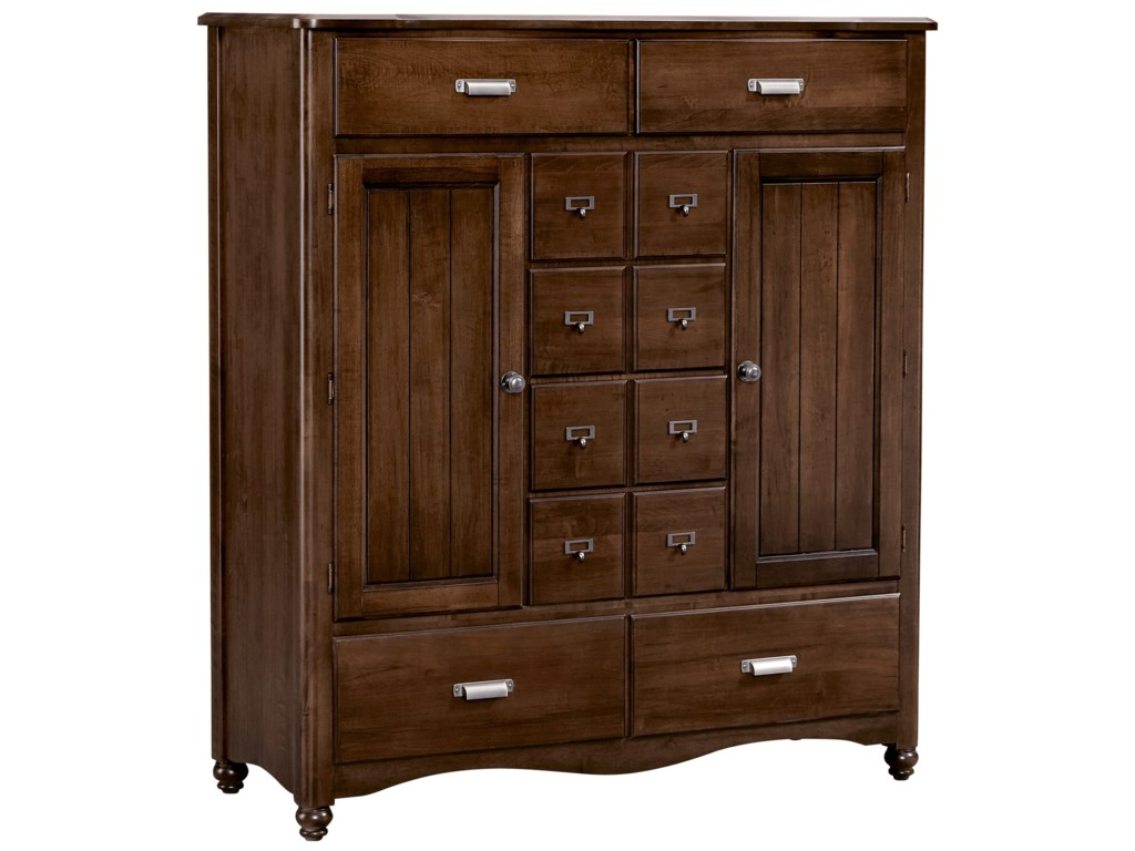 Vaughan Bassett American MapleSweater Chest - 8 Drawers, 2 Shelves
