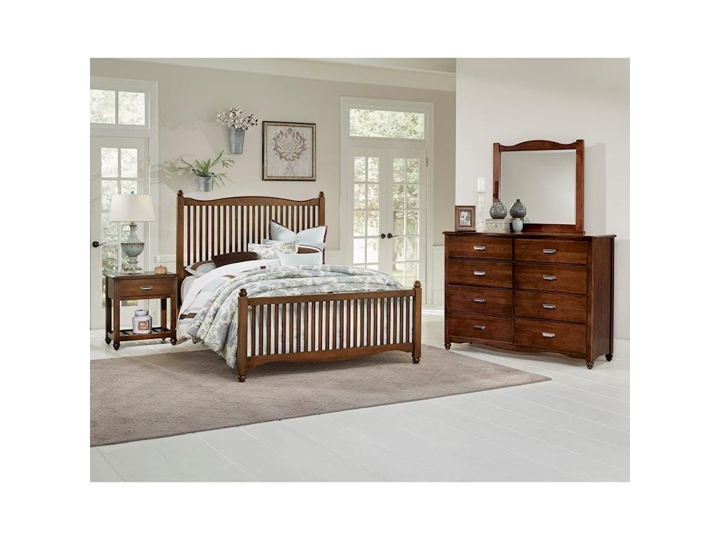 Vaughan Bassett American MapleFull Slat Bed