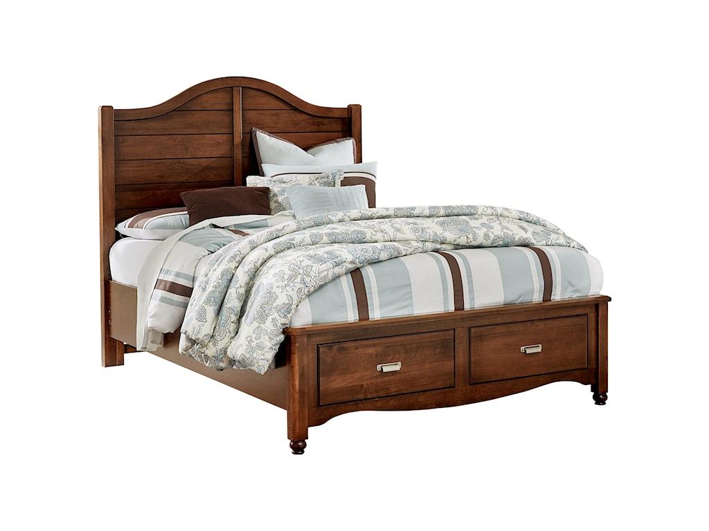 Vaughan Bassett American MapleQueen Shiplap Storage Bed