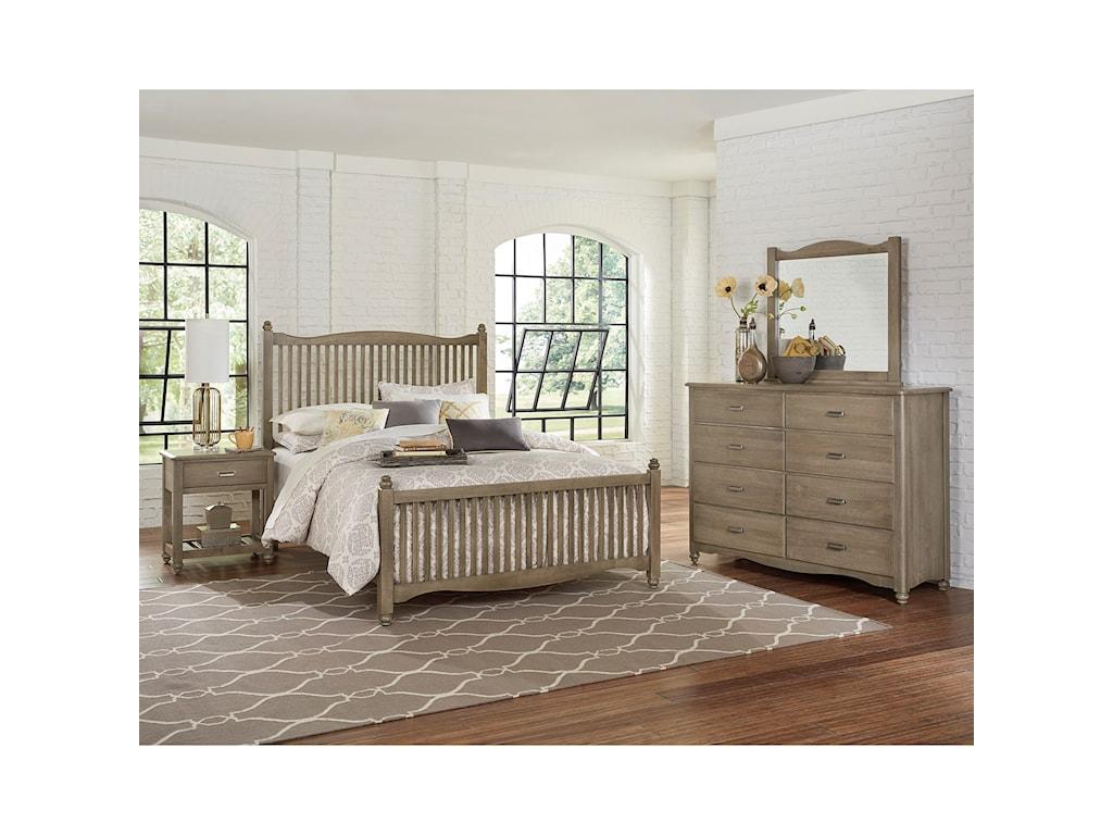 Vaughan Bassett American MapleKing Bedroom Group