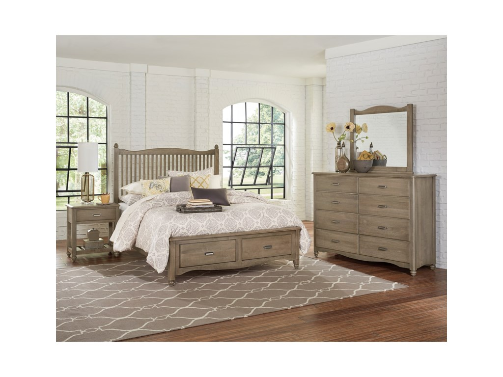 Vaughan Bassett American MapleQueen Bedroom Group