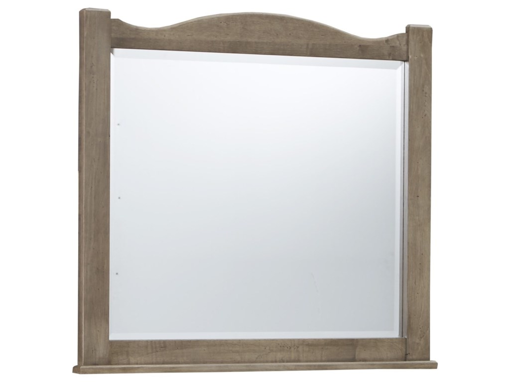 Vaughan Bassett American MapleLandscape Mirror - Beveled Glass