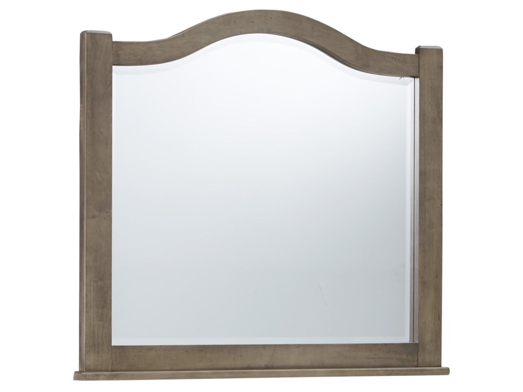 Vaughan Bassett American MapleArched Mirror - Beveled Glass