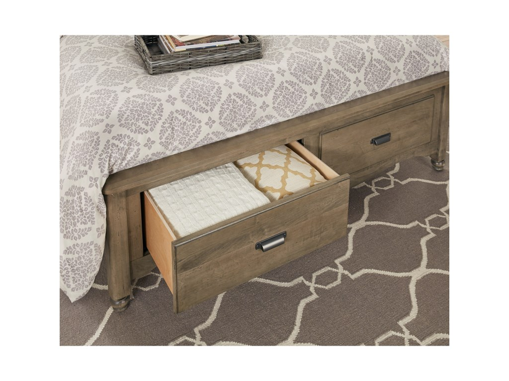 Vaughan Bassett American MapleKing Shiplap Storage Bed