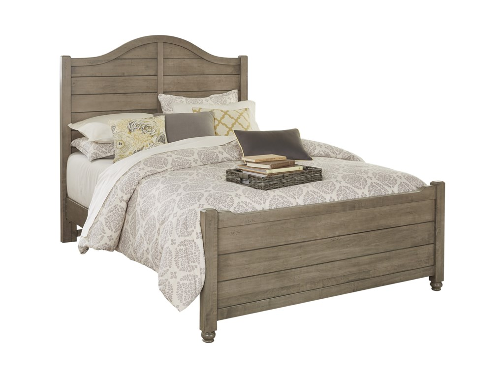 Vaughan Bassett American Maple Solid Wood King Shiplap Bed | Belfort ...