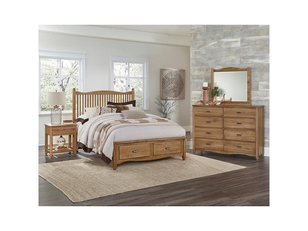 Vaughan Bassett American MapleQueen Bedroom Group