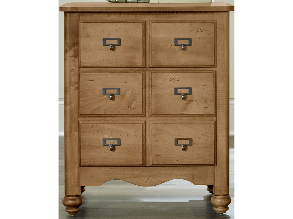 Vaughan Bassett American MapleApothecary Night Stand - 2 Drawers