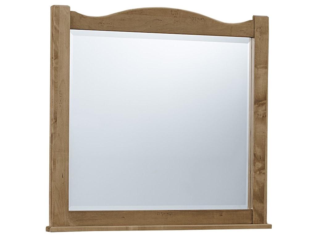 Vaughan Bassett American MapleLandscape Mirror - Beveled Glass