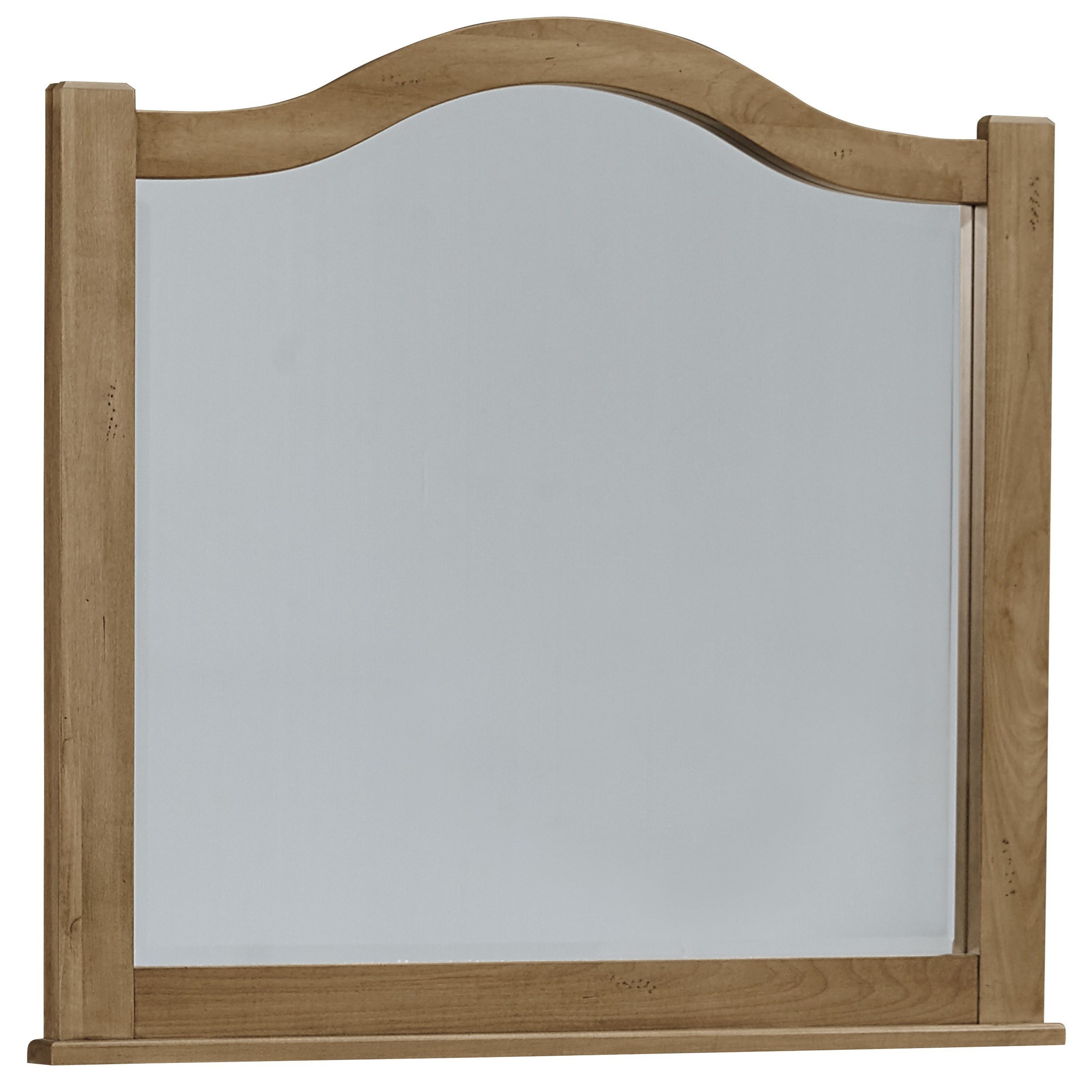 Vaughan Bassett American Maple Arched Mirror   Beveled Glass