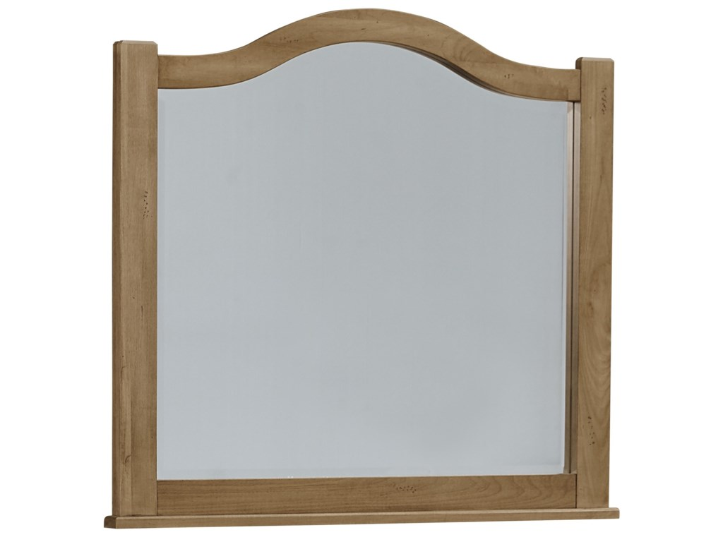Vaughan Bassett Maple EscapeArched Mirror - Beveled Glass