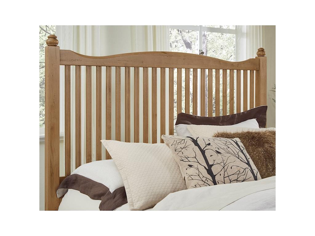 Vaughan Bassett American MapleQueen Slat Bed