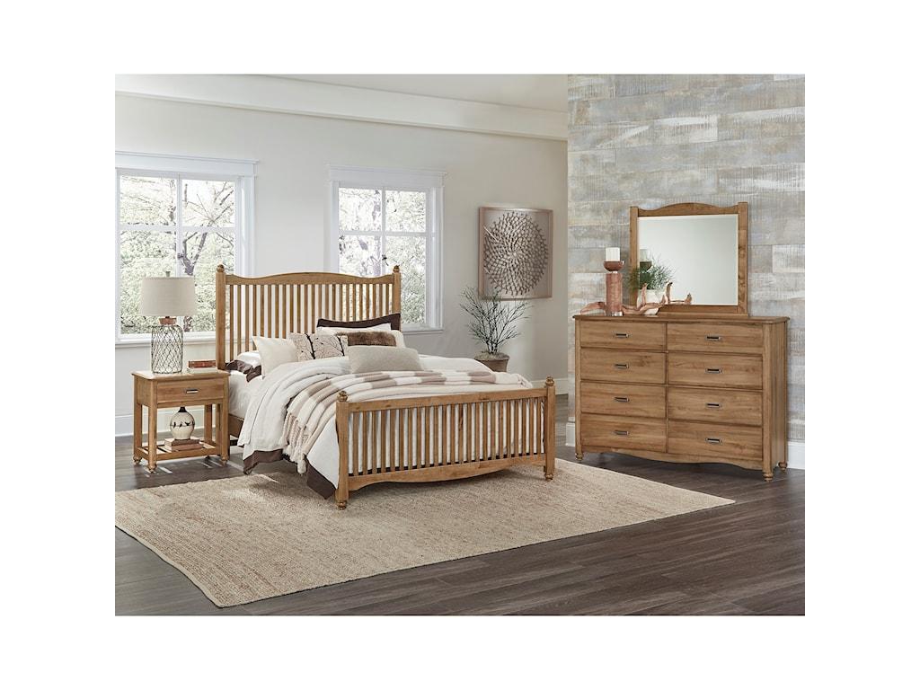Vaughan Bassett American MapleKing Slat Bed