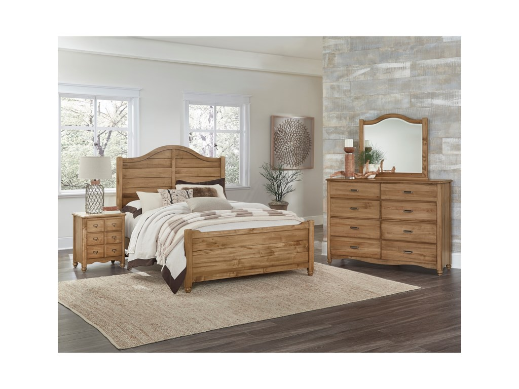 Vaughan Bassett American Maple Solid Wood King Shiplap Bed Value